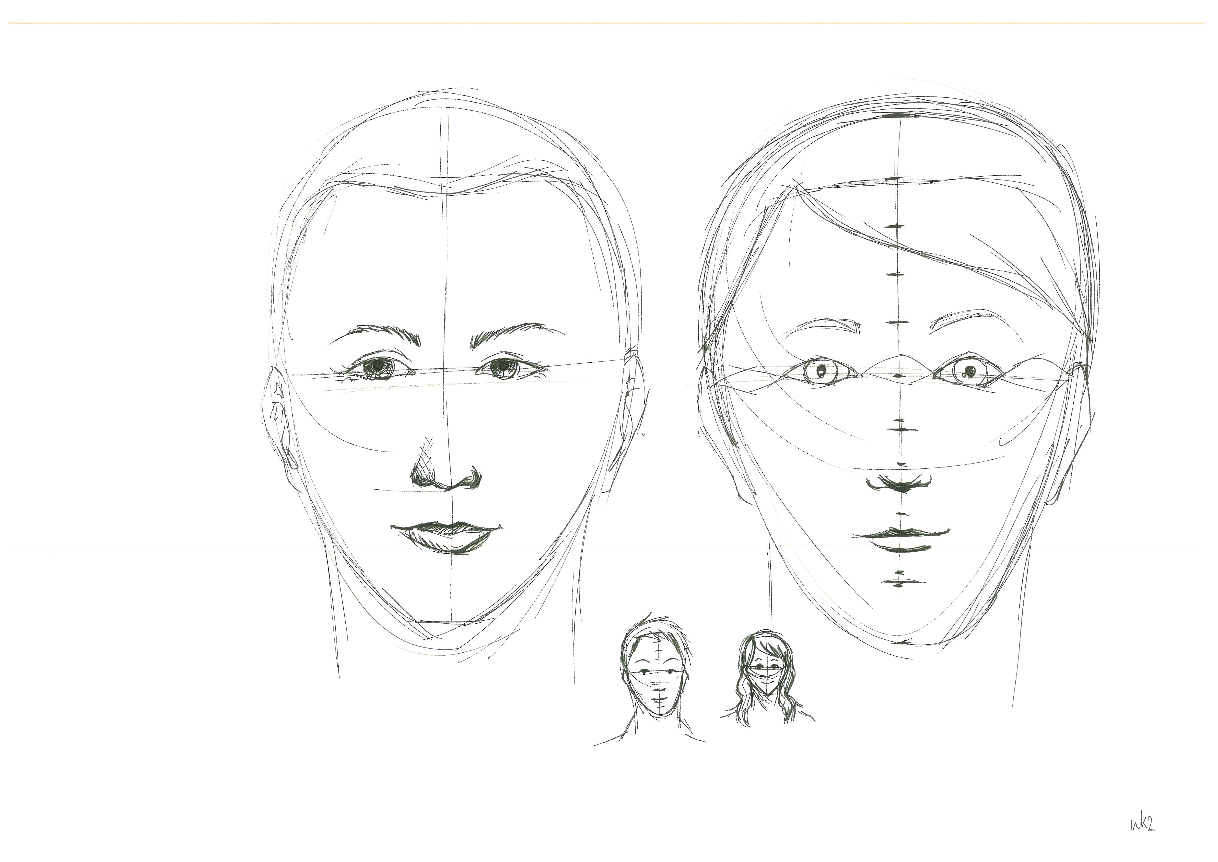 How To Draw A Human Face In Coreldraw